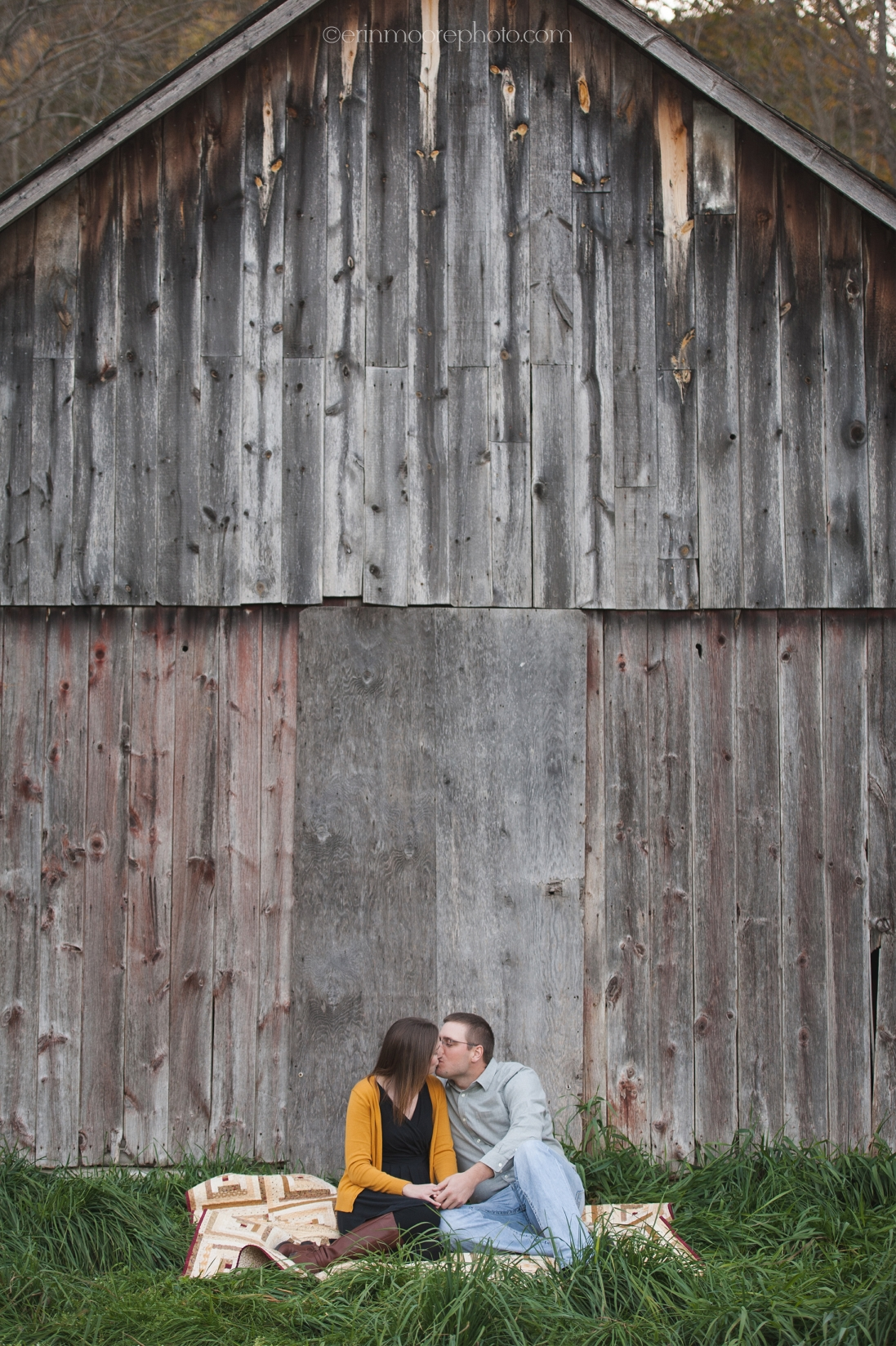 Erin Moore Photography | Wisconsin Rustic Farm Engagement Session